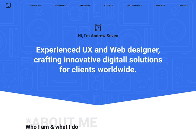 The7 - Personal Creative Website